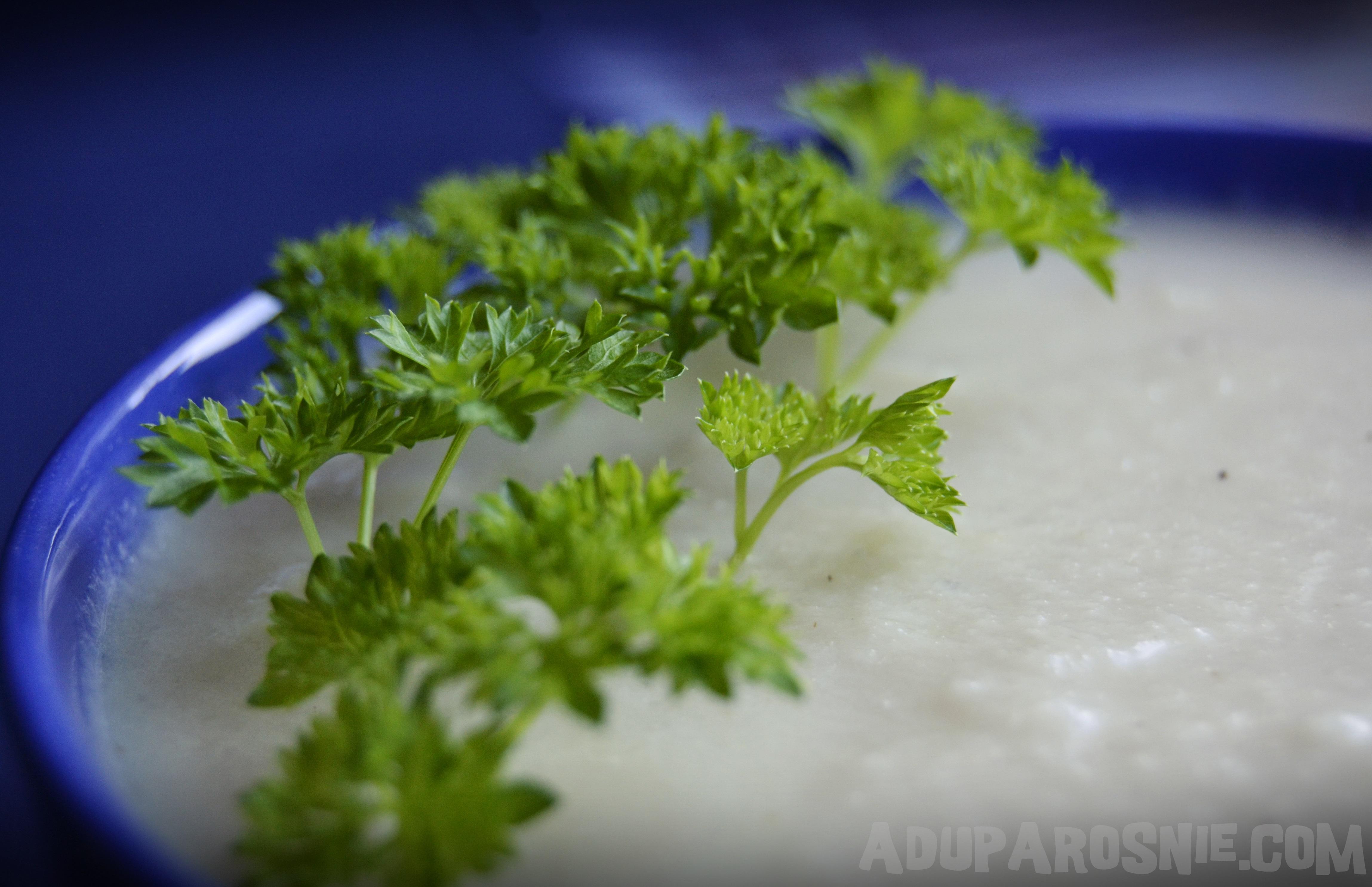 Przecierana zupa z pieczonym kalafiorem i parmezanem (3)
