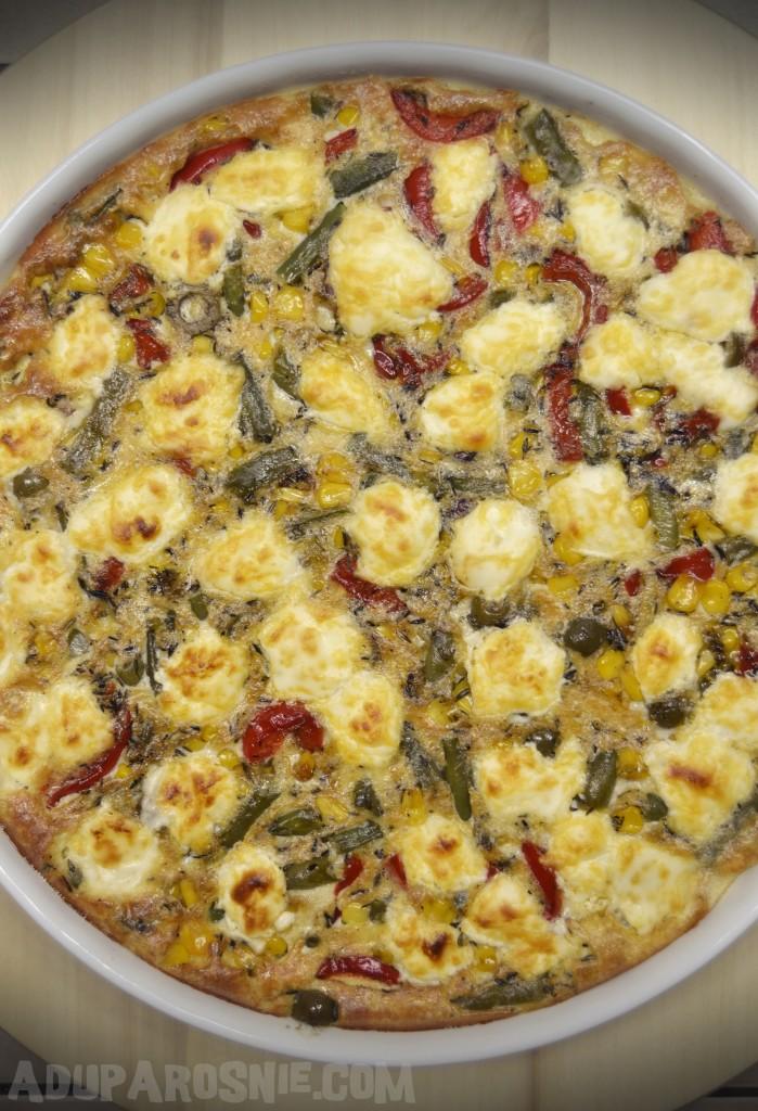 Zapiekanka z warzywami i kozim serem