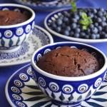 suflet czekoladowy z borówkami