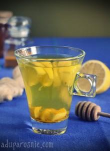 herbatka cytrynowa z kurkumą